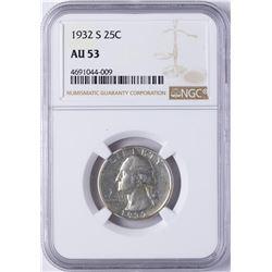 1932-S Washington Quarter Coin NGC AU53