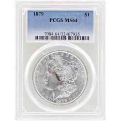 1879 $1 Morgan Silver Dollar Coin PCGS MS64