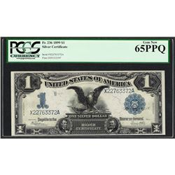 1899 $1 Black Eagle Silver Certificate Note Fr.236 PCGS Gem New 65PPQ