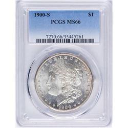 1900-S $1 Morgan Silver Dollar Coin PCGS MS66