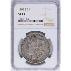 1895-S $1 Morgan Silver Dollar Coin NGC VF25
