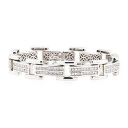 14KT White Gold 4.00 ctw Diamond Bracelet