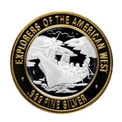 .999 Silver Explorers of the American West $10 Limited Edition Gaming Token