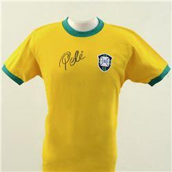 Autographed Soccer Jersey (Pele - Brazil) by Pele