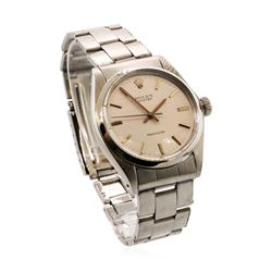 Rolex Men's Oyster Wristwatch - Stainless Steel