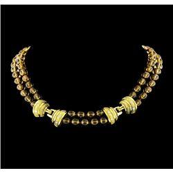 0.53 ctw Diamond Necklace - 18KT Yellow Gold