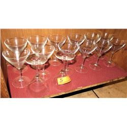 Qty 14 Martini Glasses