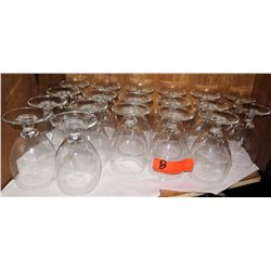 Qty 19 Small Stemmed Wine Glasses