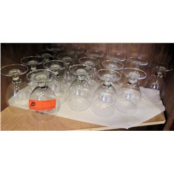 Qty 17 Stemmed Wine Glasses