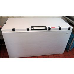 "Kenmore Elite Large Chest Freezer 61"" x 27.5"" x 34.5"" H (no closure latch but keeps items frozen)"