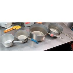 Qty 4 Cooking Pots