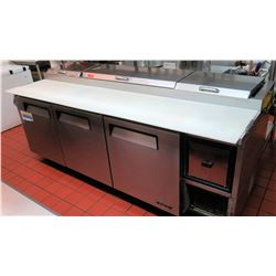 "Turbo Air Refrigerated Prep Table, Model No. TPR-93SD (7'8"" x 32.5"" depth, 42"" max ht)"