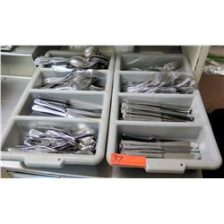 Large Lot of Silverware: Spoons, Forks, Knives, Steak Knives