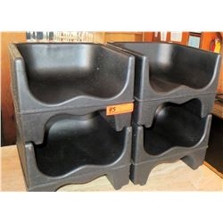 Qty 4 Plastic Booster Seats