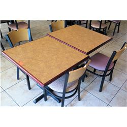 2 Tables w/ 4 Chairs, (tables 30  X 33 )