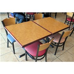 "2 Tables with 4 Chairs, 29""W 33""L 30""H"