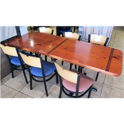 2 Wooden Tables with 6 Chairs