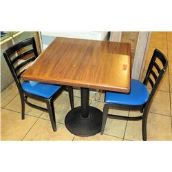 """Table with 2 Chairs, 29""""W 29""""L 30""""H"""