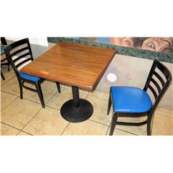 "Table with 2 Chairs, 29""W 29""L 30""H"