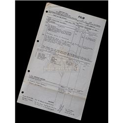 """Back to the Future - Original Production Call Sheet (4th Day of Filming) Featuring Eric Stoltz as """"M"""
