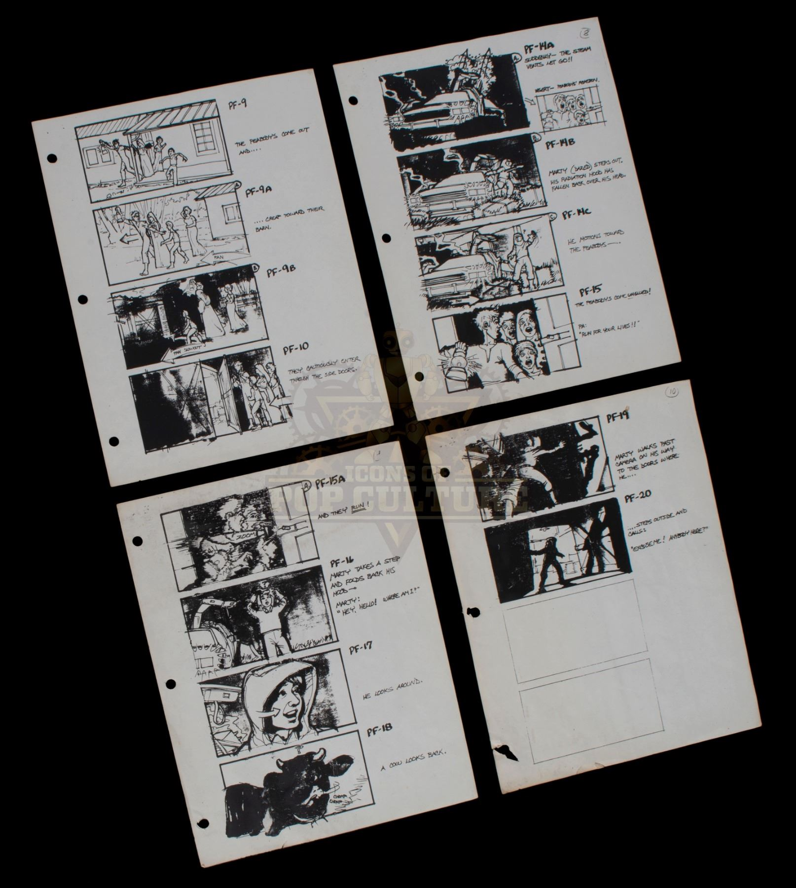 61e43fc08 Image 1   Back to the Future - Set of Production Used Storyboard Prints -  1067 ...