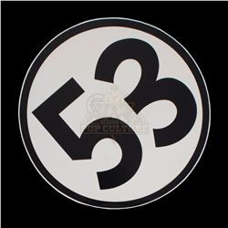 "Herbie Fully Loaded - Herbie's Large Number ""53"" Car Sticker - 1009"