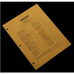 "Twister - Original Production used ""Staff & Crew List"" - 1017"