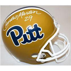 Curtis Martin Signed Pittsburgh Full-Size Helmet (Radtke COA)