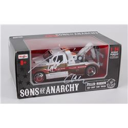 """Tommy Flanagan Signed """"Sons of Anarchy"""" Die Cast Tow Truck Inscribed """"Chibs"""" (Radtke COA)"""