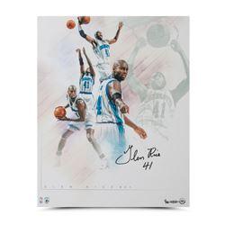 "Glen Rice Signed Hornets ""Buzz"" 16x20 Collage Photo LE 50 (UDA COA)"