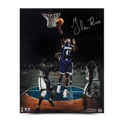"Glen Rice Signed Hornets ""Layup in the Garden"" 8x10 Photo (UDA COA)"