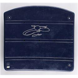 Emmitt Smith Signed Game-Used Dallas Cowboys Blue Stadium Seat Bottom (Schwartz COA)
