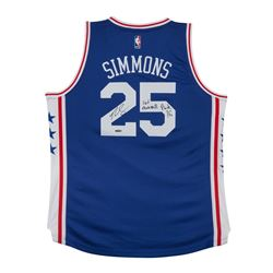 """Ben Simmons Signed 76ers Authentic Jersey Inscribed """"#1 Overall Pick 16"""" (UDA COA)"""