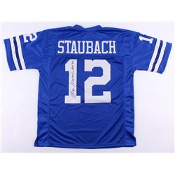 """Roger Staubach Signed Cowboys Jersey Inscribed """"HOF '85"""" (JSA Hologram)"""