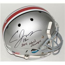 "Cardale Jones Signed Ohio State Full-Size Helmet Inscribed ""2014 Natl. Champs"" (Radtke COA)"