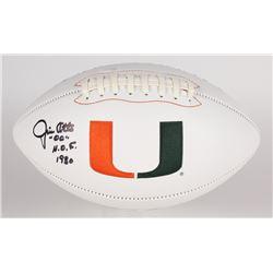 "Jim Otto Signed Miami Hurricanes Logo Football Inscribed ""H.O.F. 1980"" (JSA COA)"