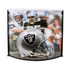 """Howie Long Signed LE Raiders Full Size Authentic Pro-Line Helmet Inscribed """"HOF/00"""" with Curve Displ"""