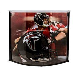 Matt Ryan Signed Falcons Full-Size Authentic Pro-Line Helmet with Curve Display Case (Fanatics)