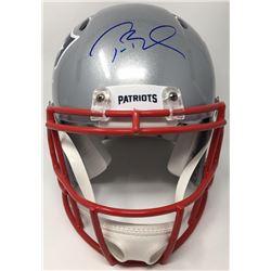 Tom Brady Signed Patriots Super Bowl LI Logo Full-Size Authentic On-Field Speed Helmet (TriStar Holo