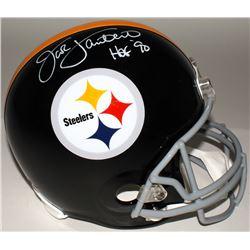 "Jack Lambert Signed Steelers Full-Size Helmet Inscribed ""HOF' 90"" (JSA COA)"