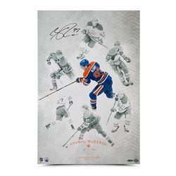 """Connor McDavid Signed Oilers """"On the Rise"""" 16x24 Photo (UDA COA)"""
