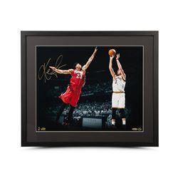 """Kevin Love Signed """"Corner Jumper"""" 16x20 Custom Framed Photo (UDA)"""