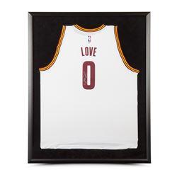 Kevin Love Signed Cavaliers 32x38 Custom Framed Jersey (UDA COA)