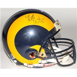 Kurt Warner Signed Rams Full Size Authentic On-Field Helmet (JSA COA)