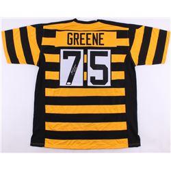 "Joe Greene Signed Steelers Throwback Jersey Inscribed ""HOF 87"" (JSA COA)"