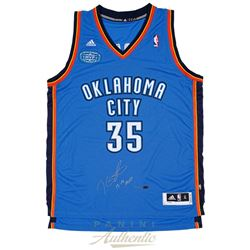 """Kevin Durant Signed Thunder Jersey With 2013-14 MVP Patch Inscribed """"13-14 MVP"""" (Panini COA)"""