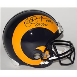 """Eric Dickerson Signed LE Rams Full-Size Authentic On-Field Throwback Helmet Inscribed """"HOF 99""""  """"210"""