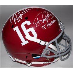 Mark Ingram  Derrick Henry Signed Alabama Full-Size Helmet (Ingram  Henry Hologram)