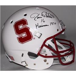 """Jim Plunkett Signed Stanford University Full-Size Helmet Inscribed """"Heisman 1970"""" (Radtke COA)"""