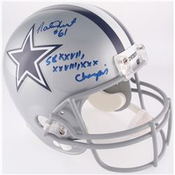 "Nate Newton Signed Cowboys Full-Size Helmet Inscribed ""SB XXVII, XXVIII, XXX Champions"" (JSA  Radtke"